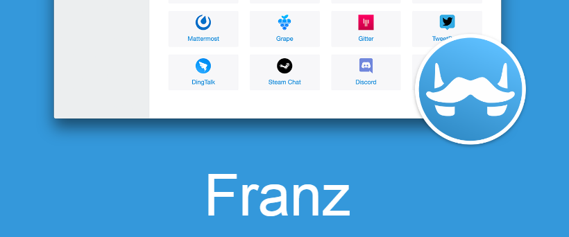 複数のチャットツールをまとめて管理できるアプリ「Franz」が便利過ぎるのイメージ画像